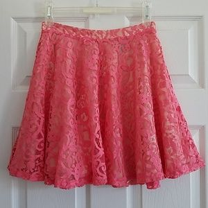 H&M Pink Lace Skirt